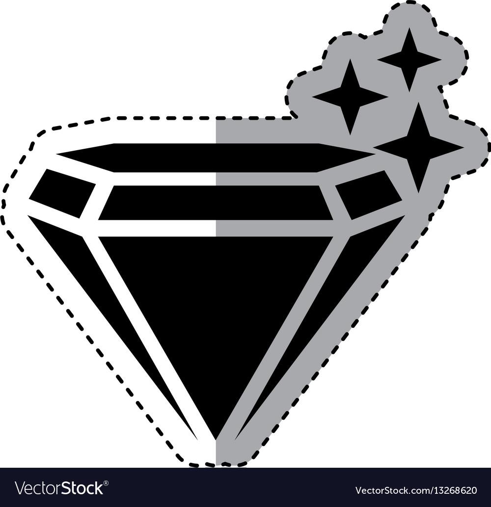 Mine diamond isolated icon