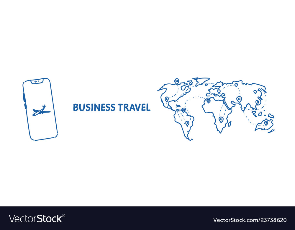 Mobile application business travel concept tourism
