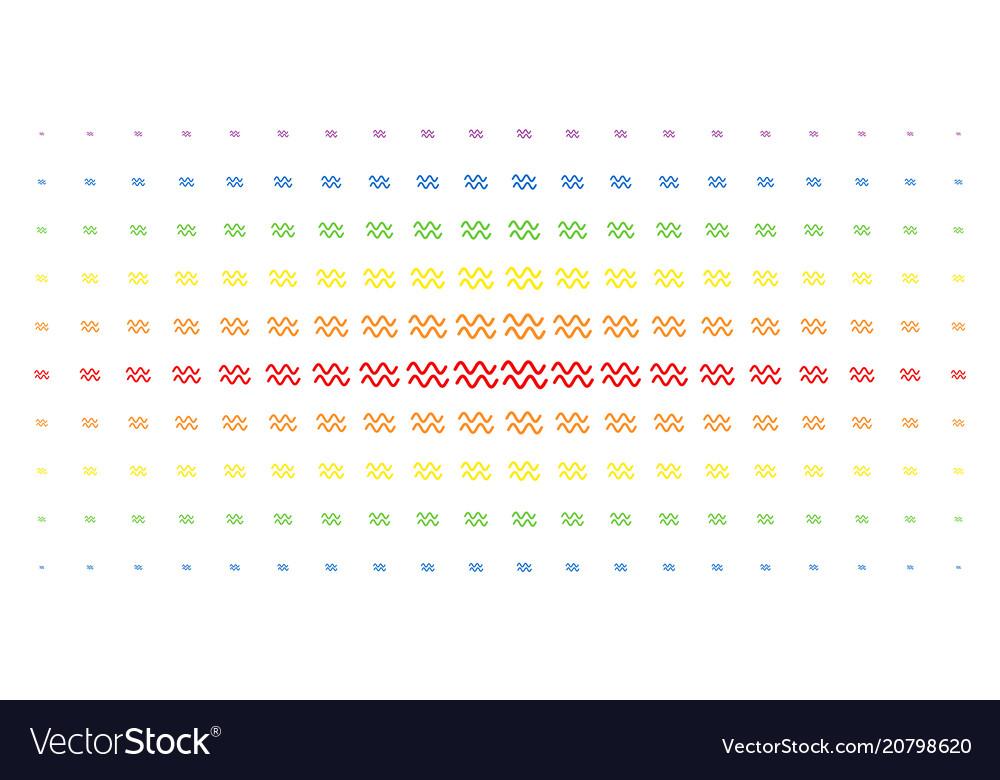 Sinusoid waves spectral halftone grid