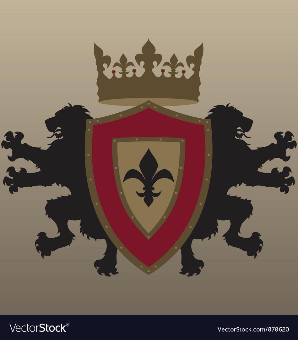 Twin Lion Heraldic Design
