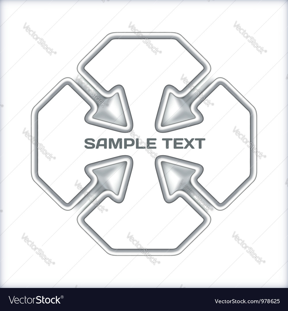 Arrows concept template vector image