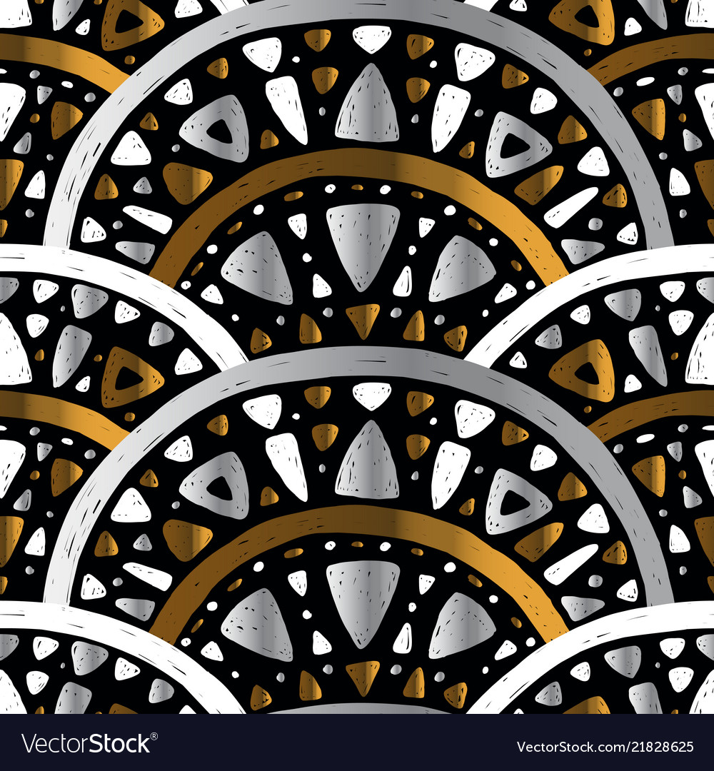Art nouveau seamless pattern