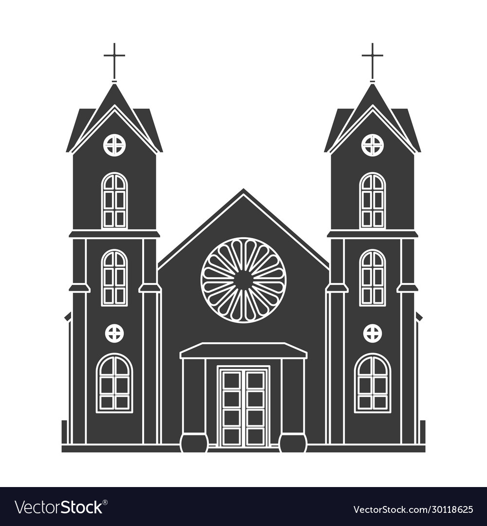 Church silhouette christianity architecture house