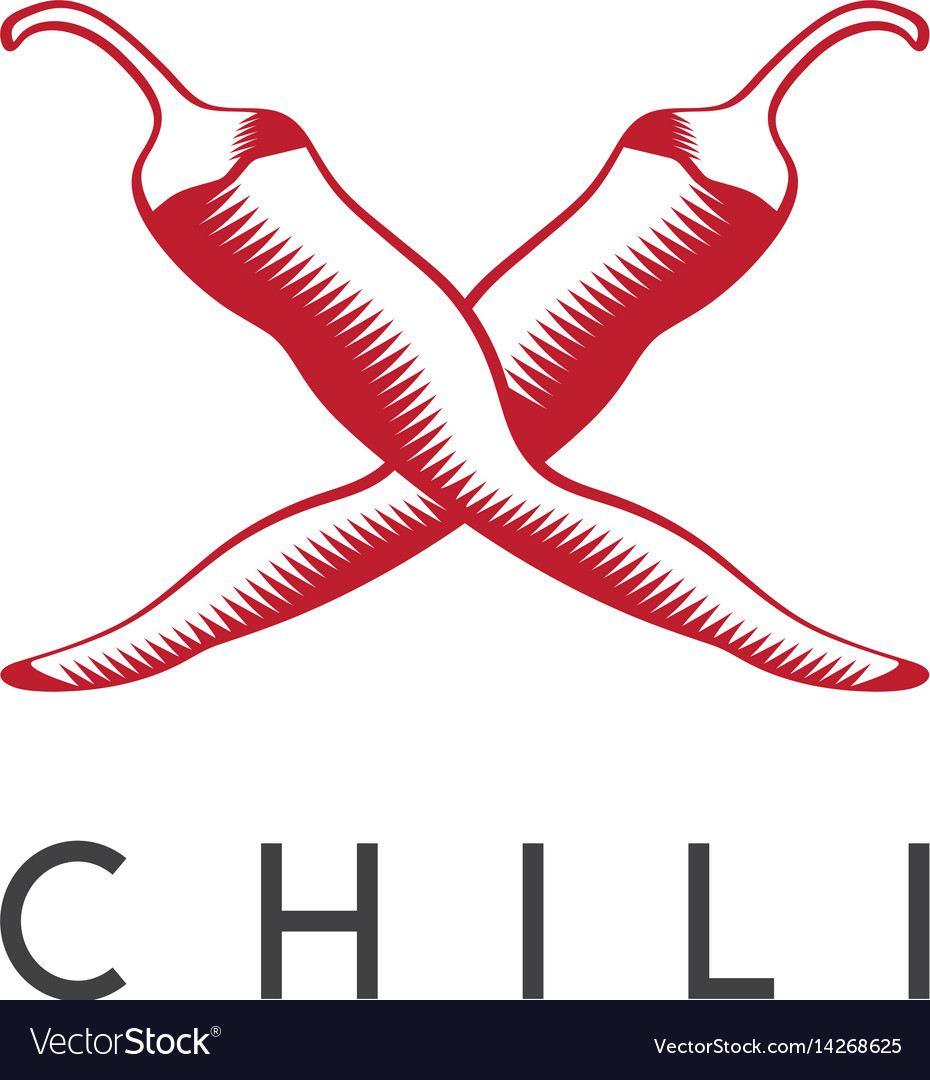 Design template of hot chili pepper