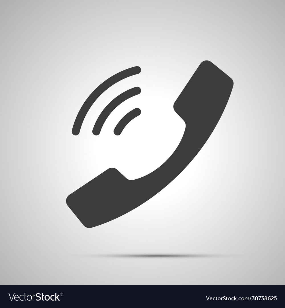Handset with sound waves simple black icon