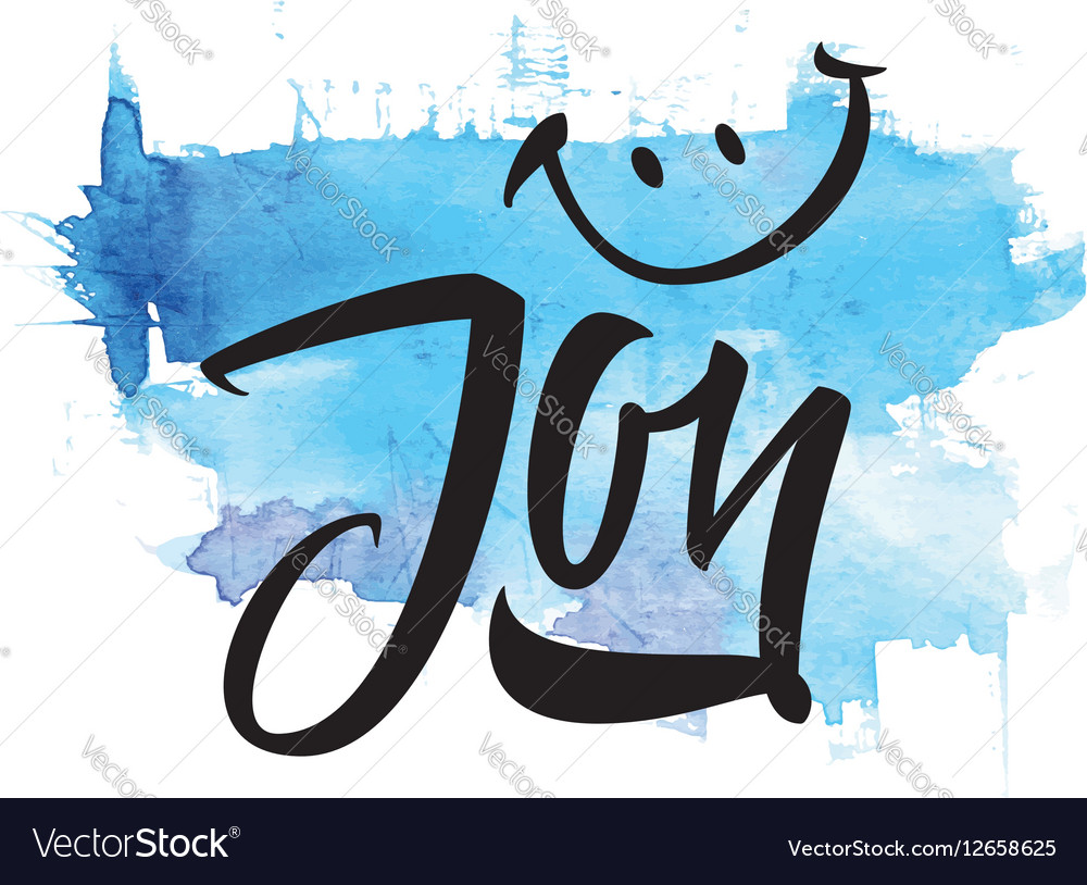 Joy Calligraphy Lettering T Shirt Vector Image