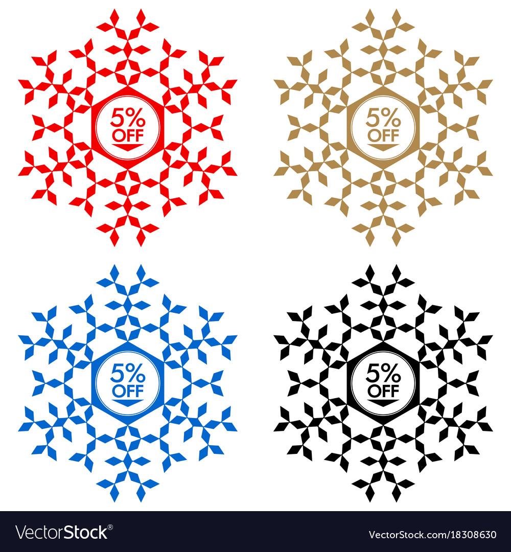 15 off discount sticker snowflake 15 off sale