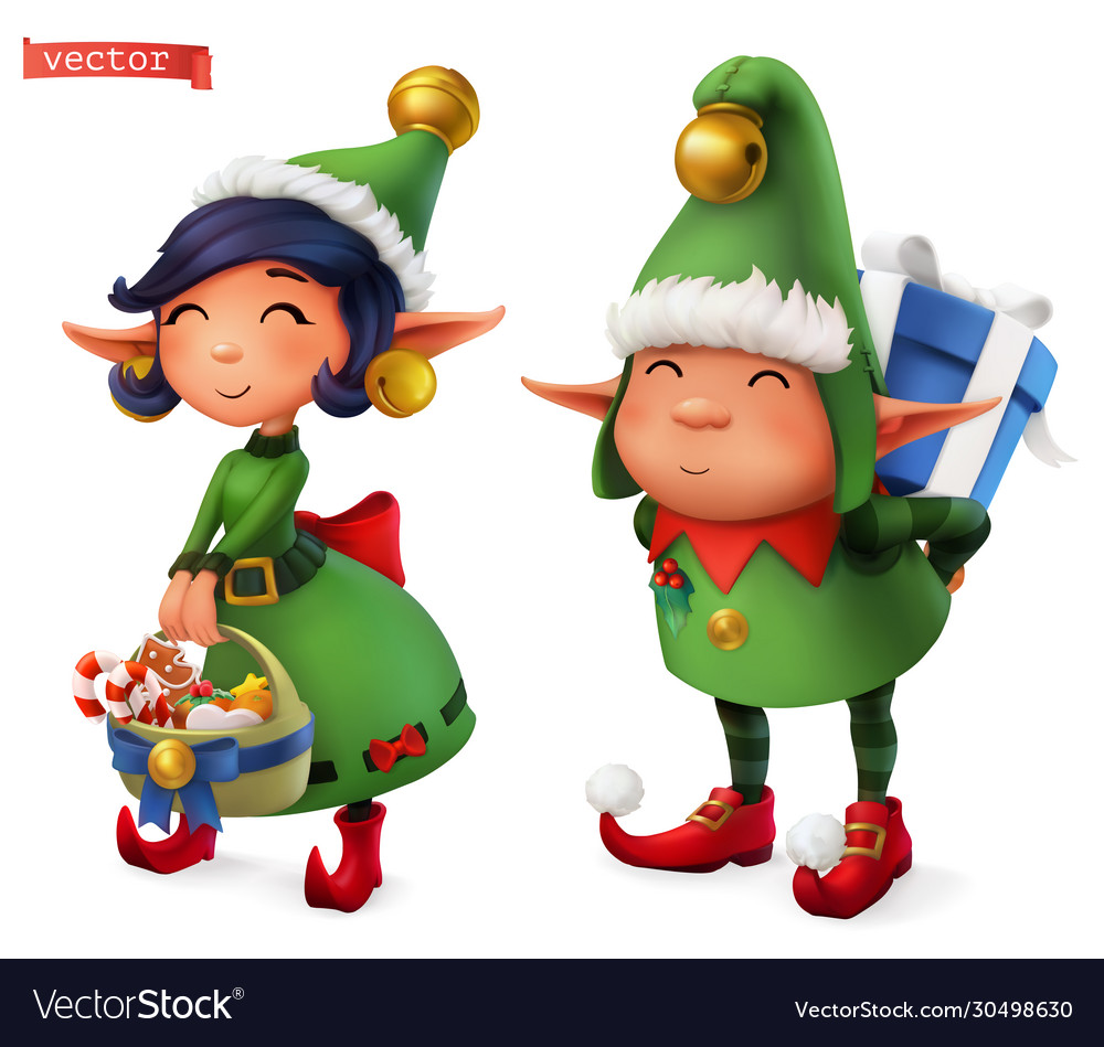 Christmas elves 3d icon