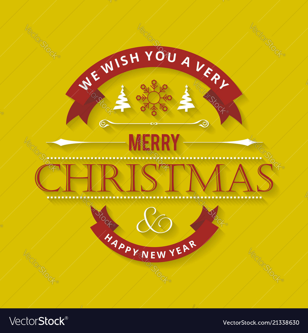 Christmas greetings card with stylish