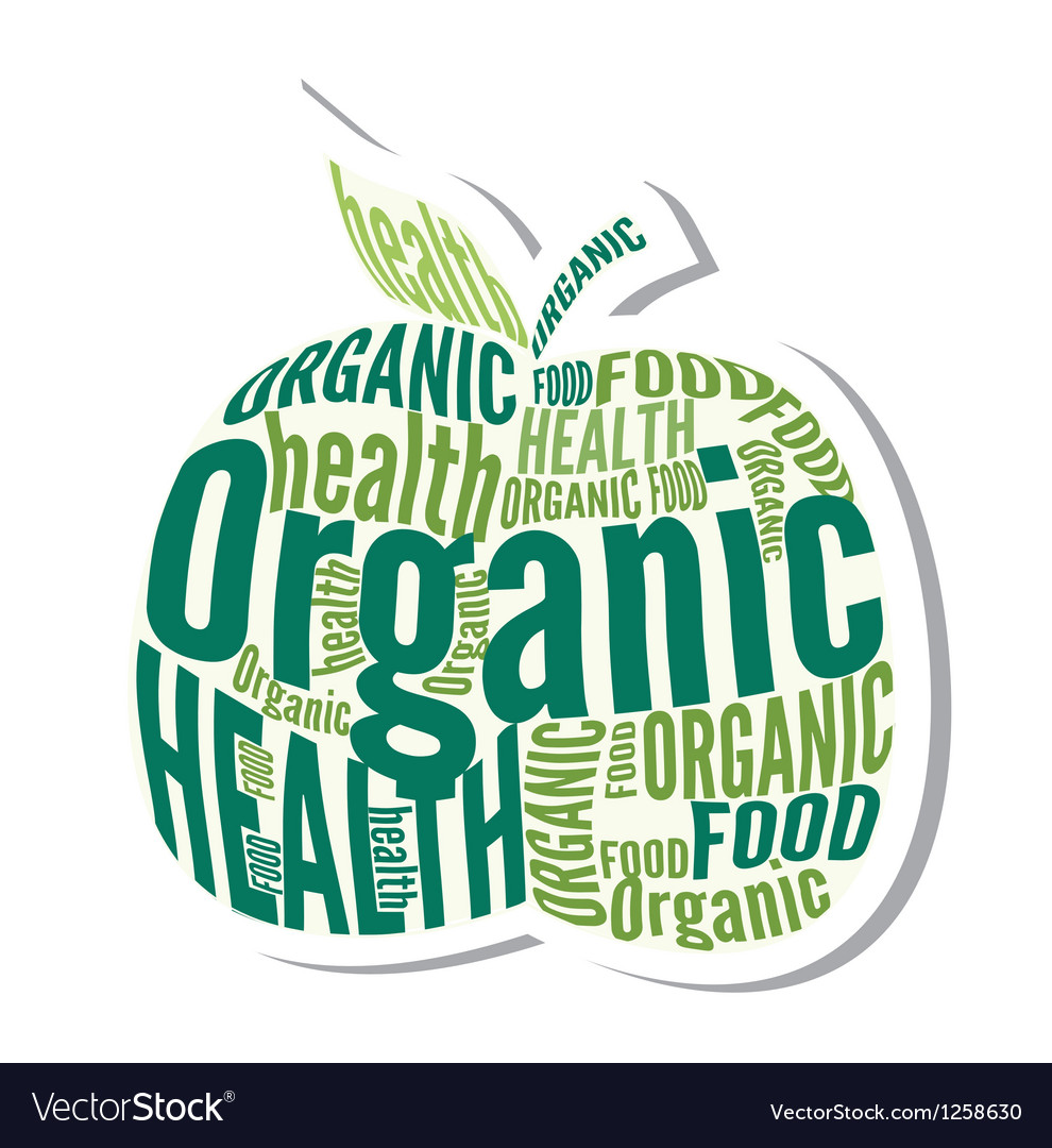 Organic apple design label