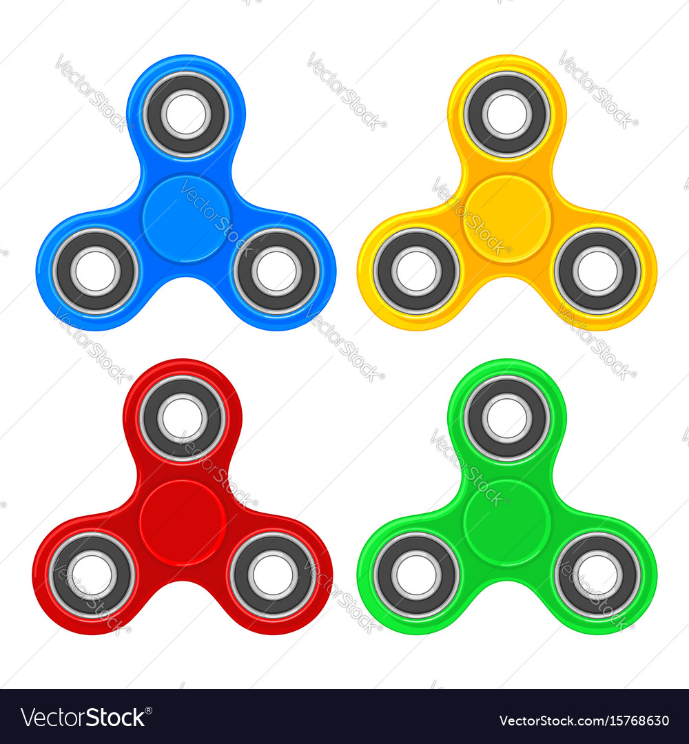 Set toy spinner flat color