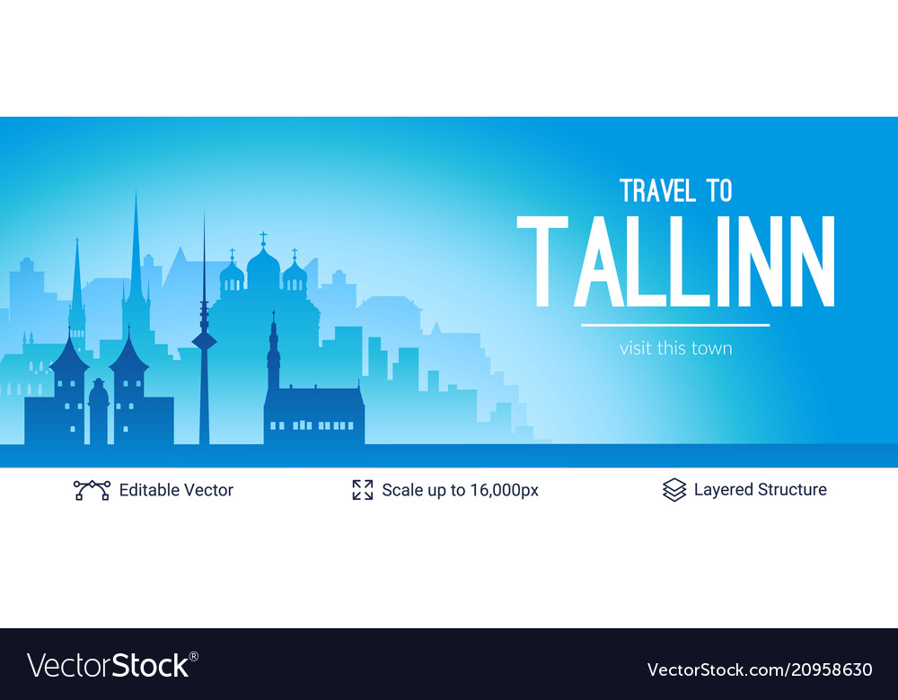 Tallinn famous city scape