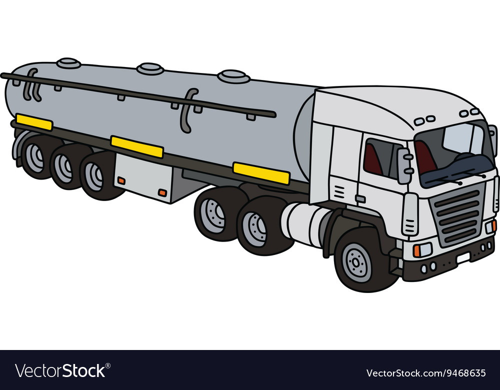 Big tank truck Royalty Free Vector Image - VectorStock