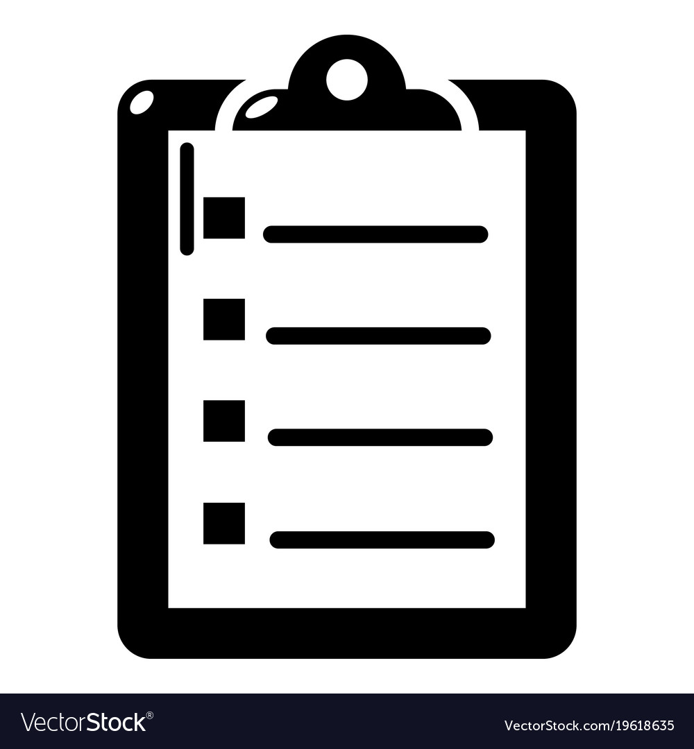 check list icon simple black style royalty free vector image