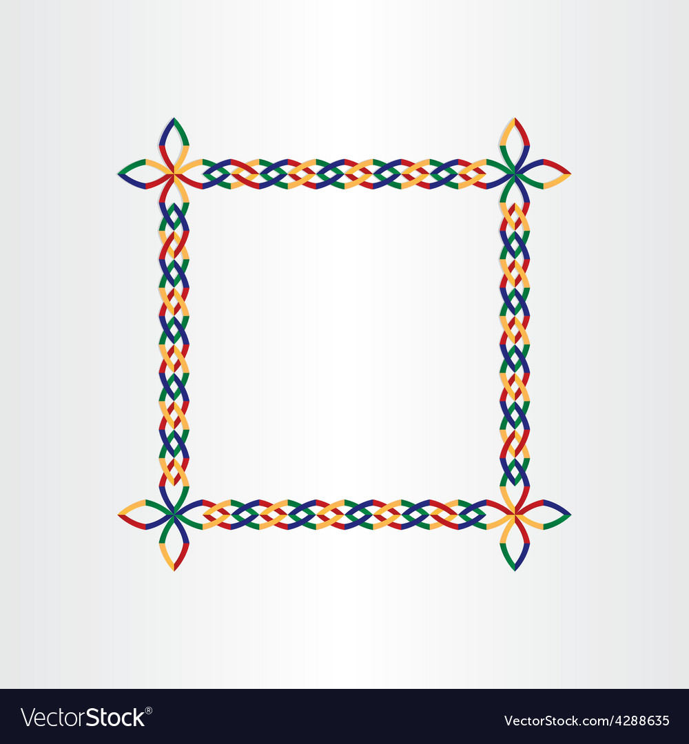 Color square decorative birthday frame design vector image