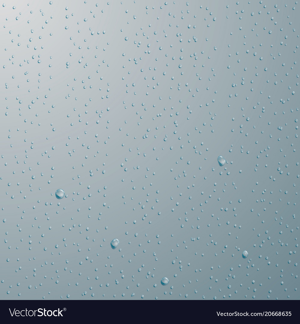 Drops of water rain or shower drops isolated on