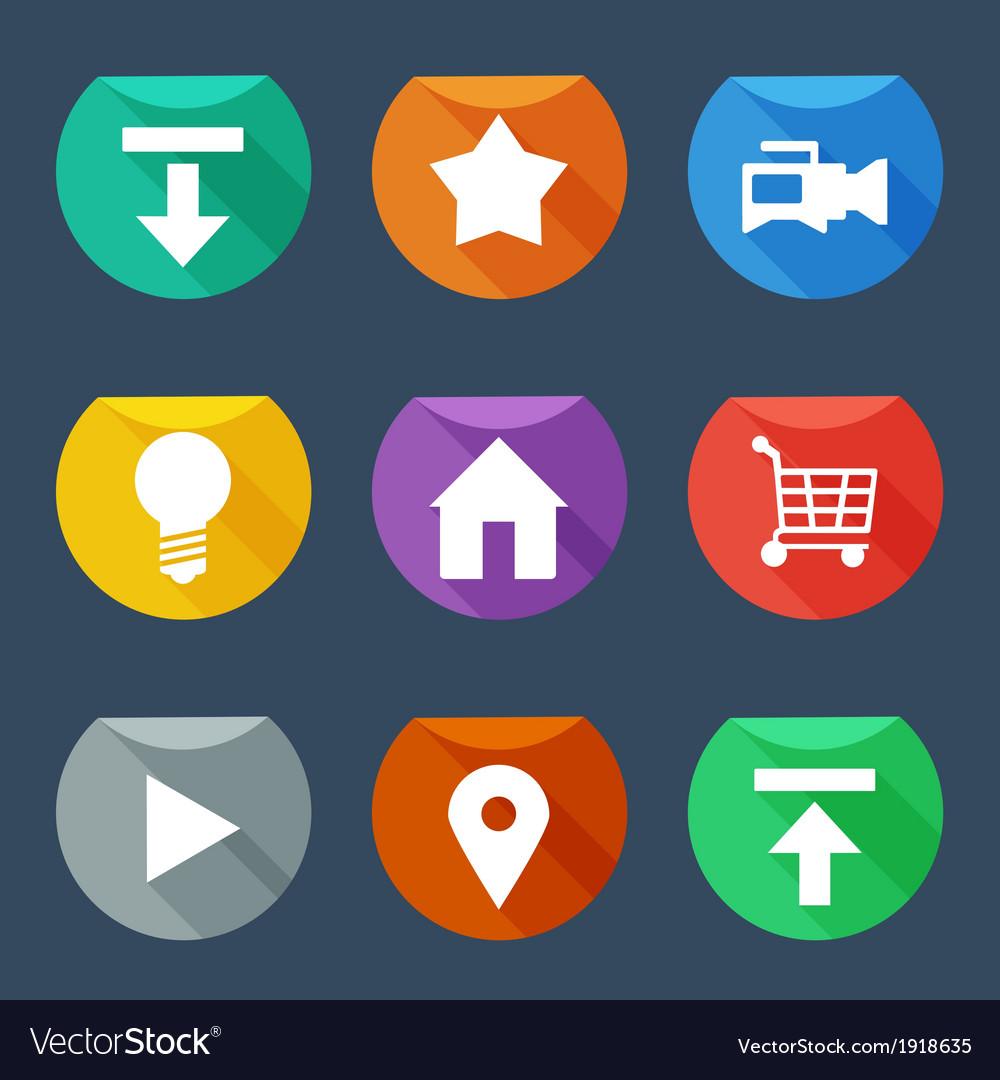 Flat UI icons set