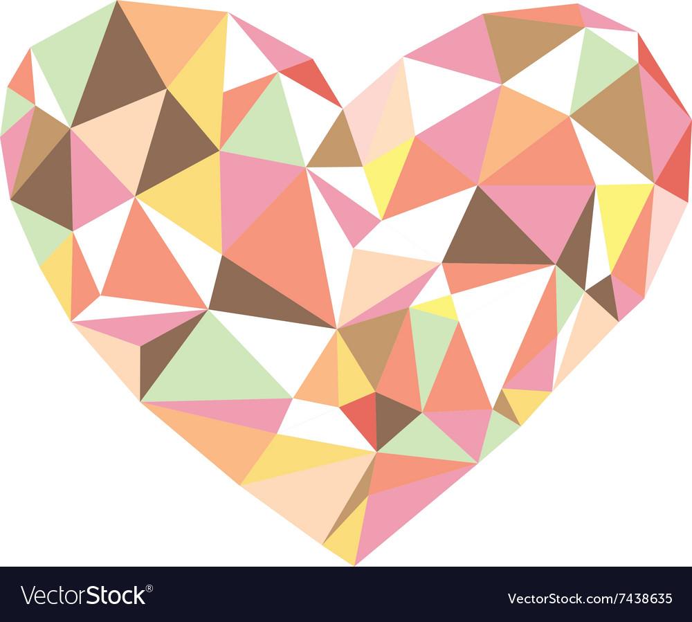 POLYGON LOVE vector image