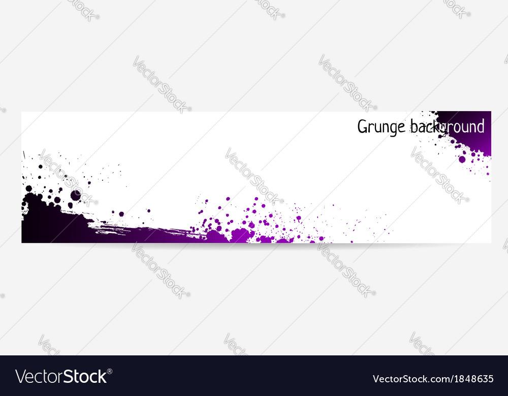 Purple grunge banner vector image