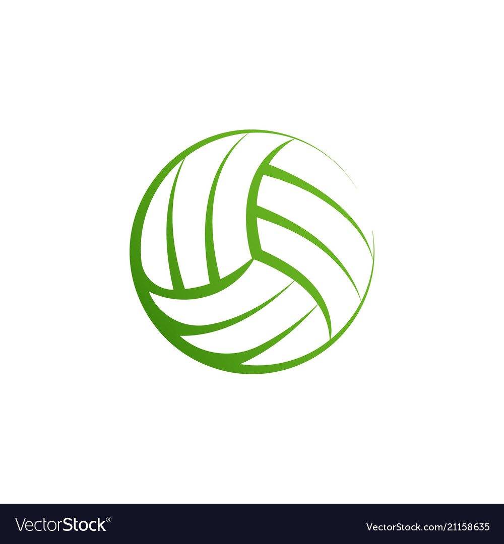 Volleyball logo element volley ball icon