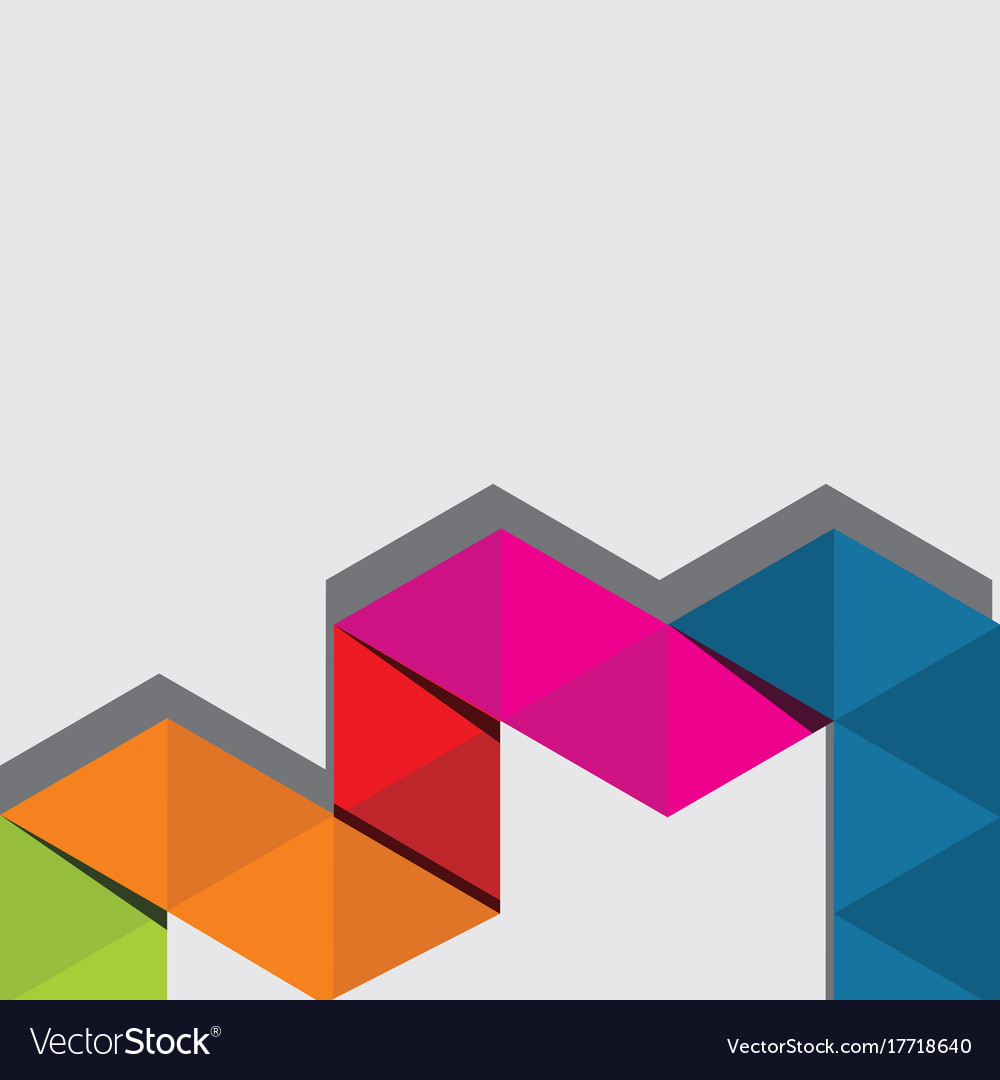 Abstract triangle color background