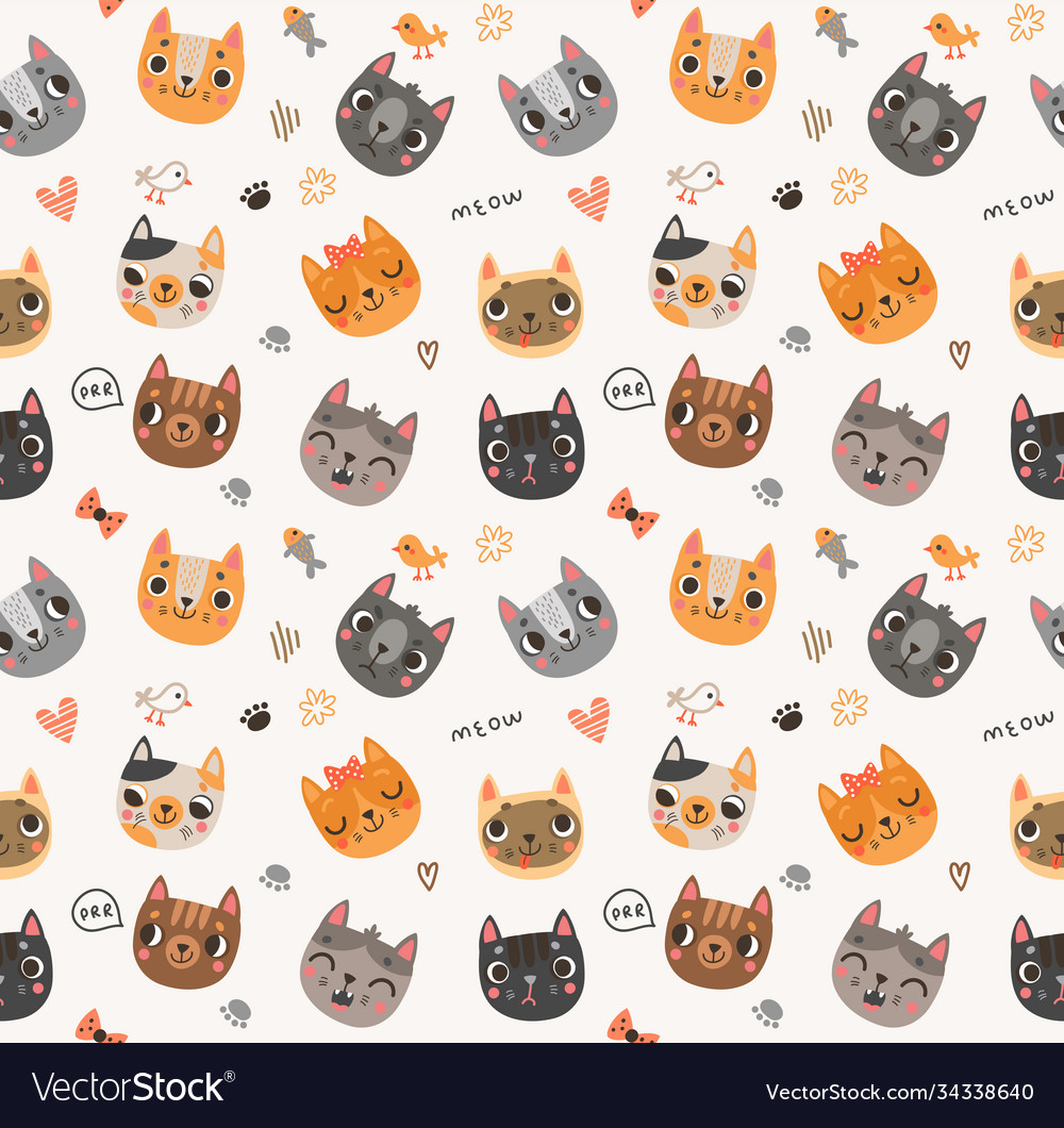 Background with funny and cute cats