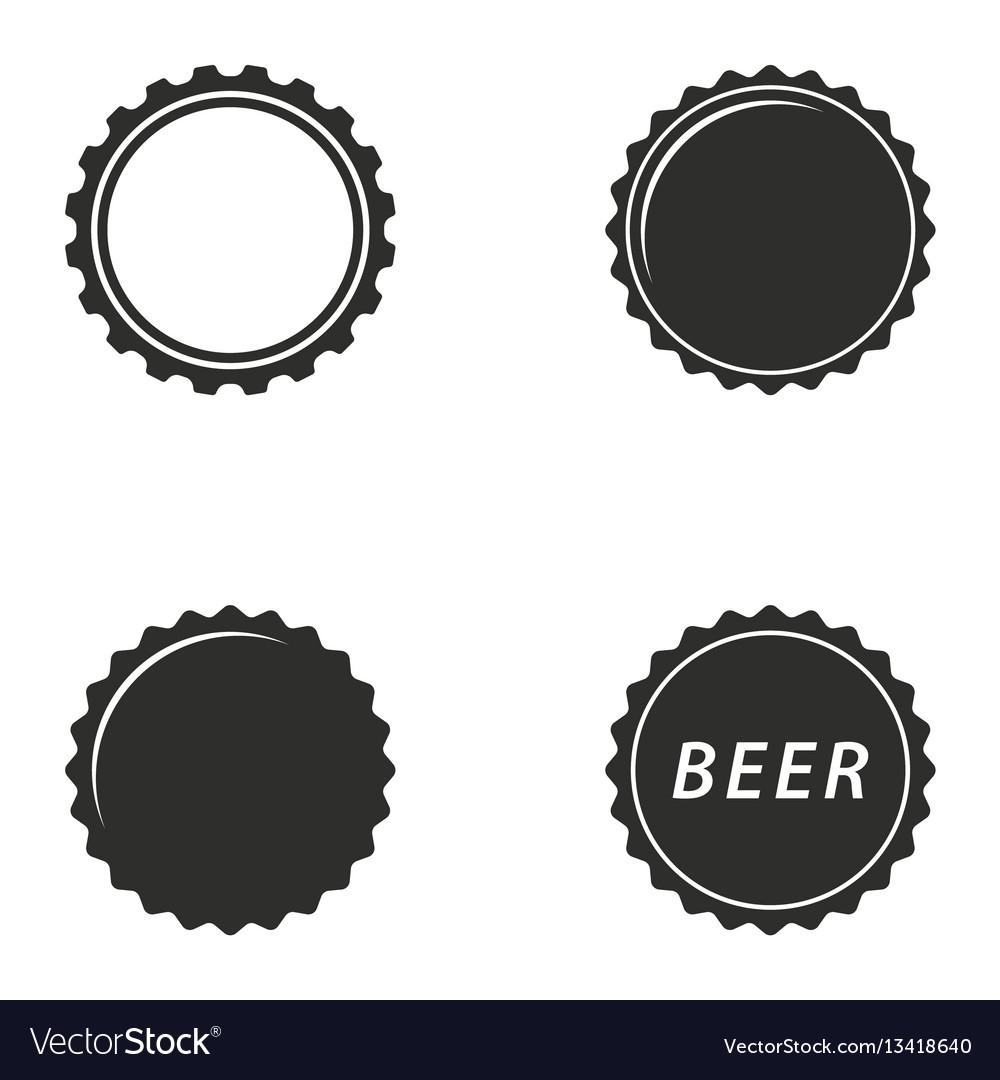 bottle cap icon set royalty free vector image vectorstock rh vectorstock com bottle cap vector logo bottle cap vector design