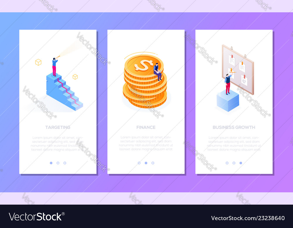 Business situations - set of isometric