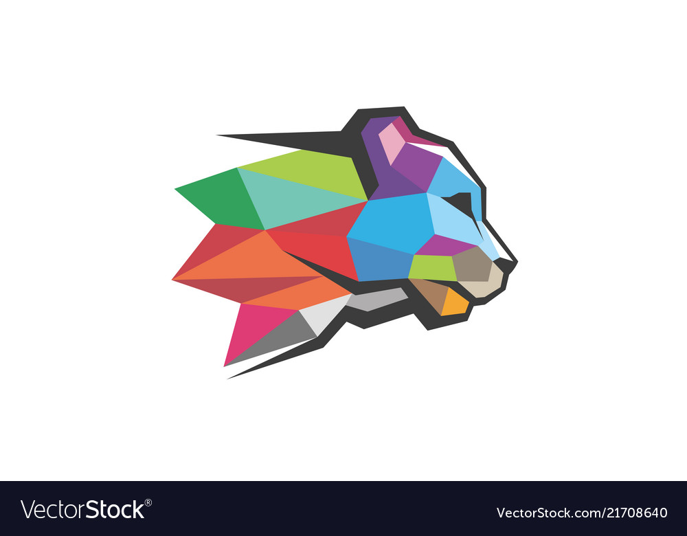 Creative panther head logo