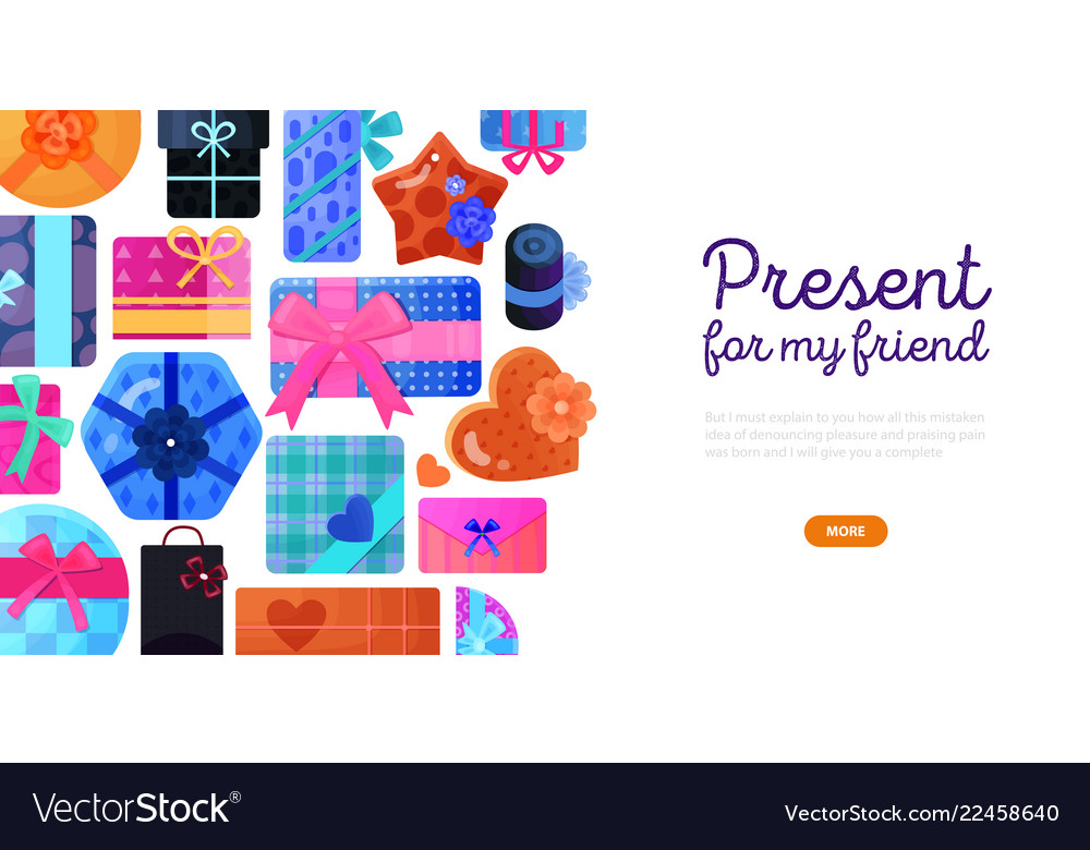 Gifts boxes packaging background