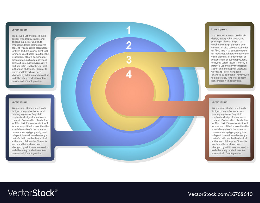 Infographic Diagram Template With Concentric Vector Image