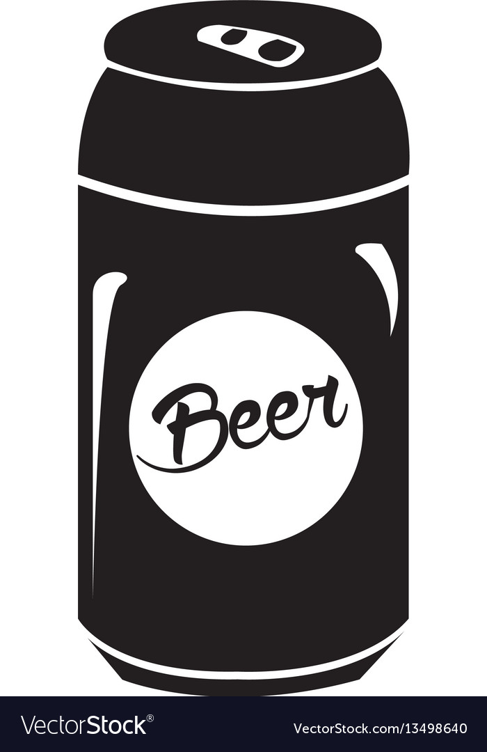 isolated beer can silhouette royalty free vector image rh vectorstock com beer can vector free beer can label vector