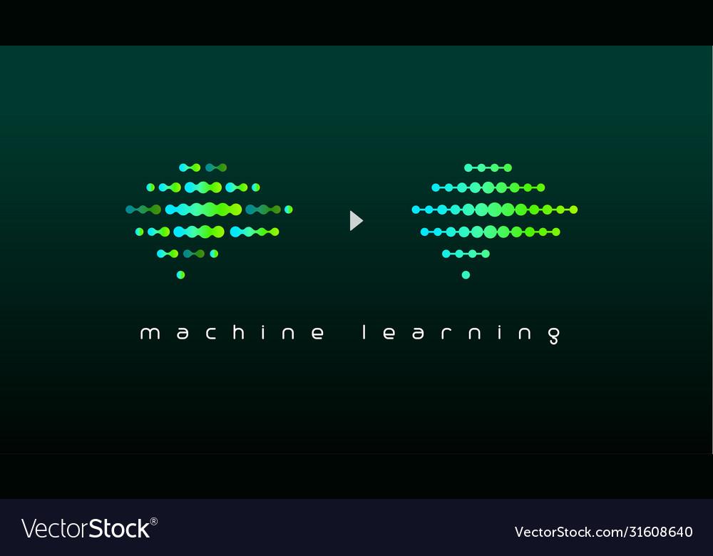 Machine learning logo artificial intelligence