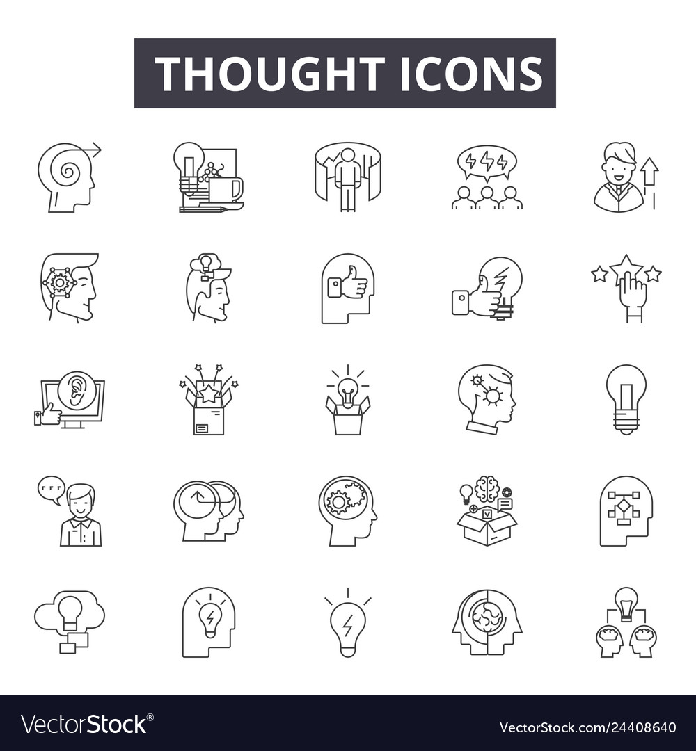 Thought line icons for web and mobile design