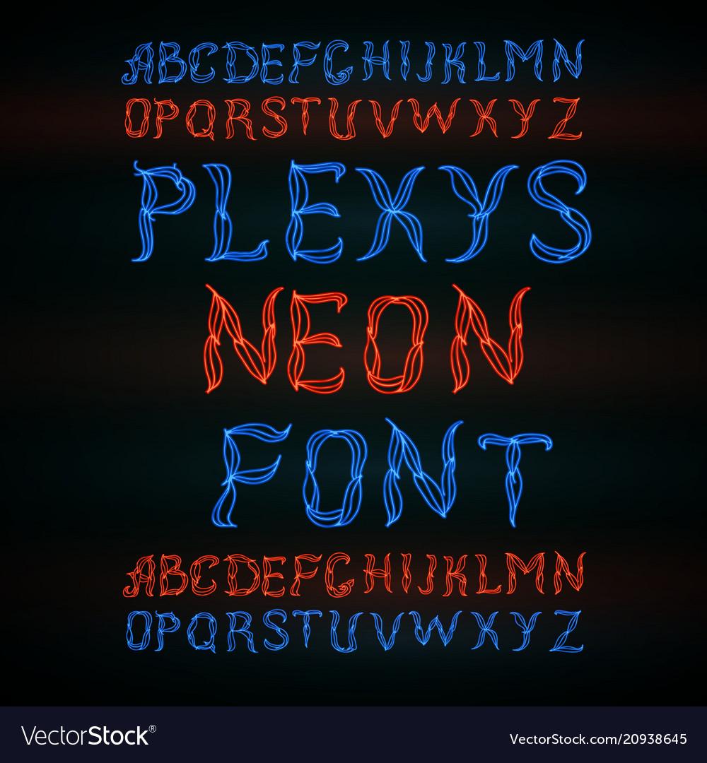 Abstract red plexus neon font