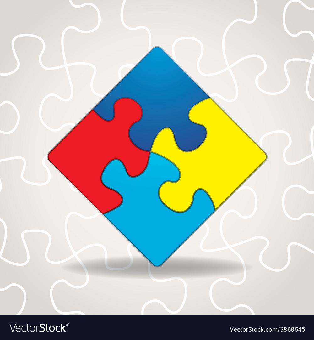 Autism Puzzle Square