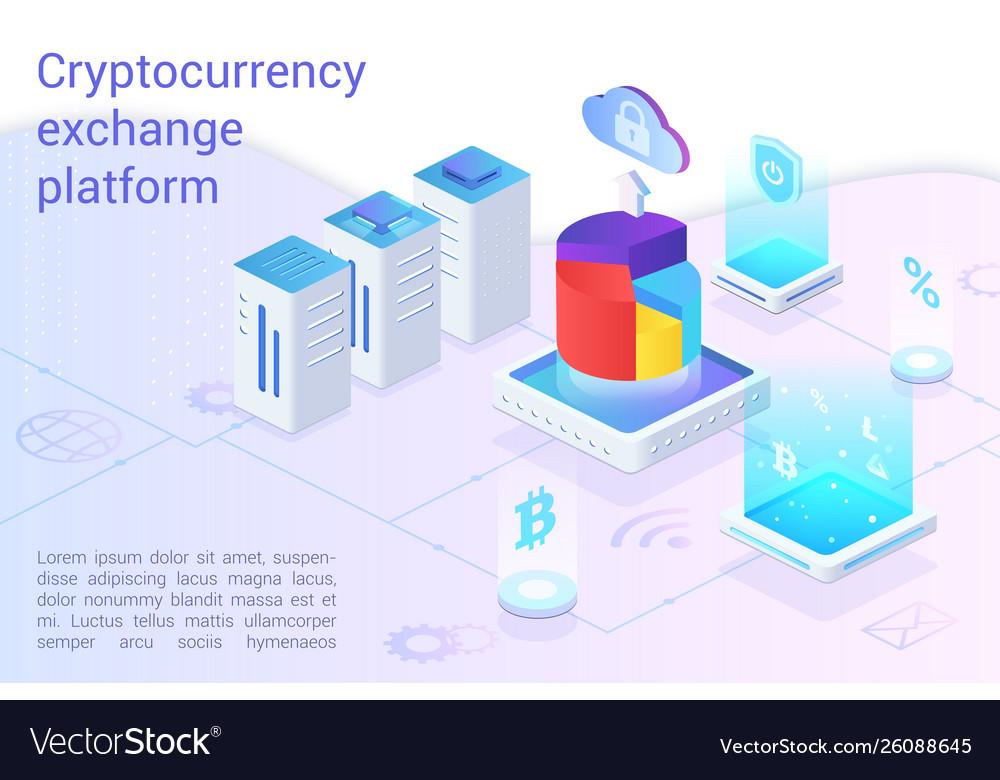 Cryptocurrency exchange platform landing page