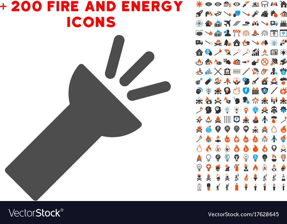 Electric Torch Light Icon With Bonus Power Clipart