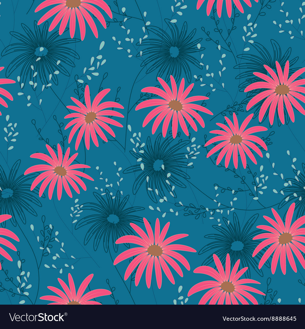 Floral seamless pattern with delicate flowers