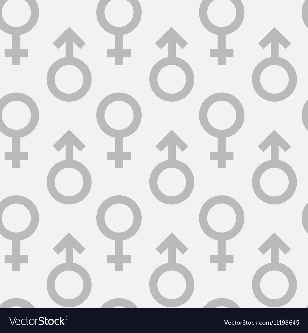 Seamless Pattern Of Male And Female Gender Symbols