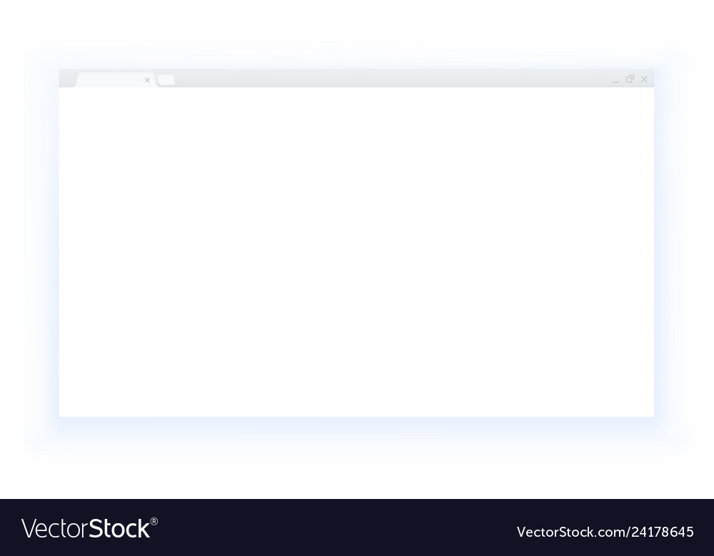 Simple style blank web browser window isolated on