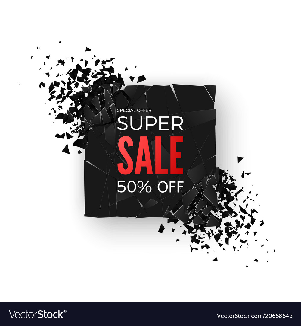 Super sale banner - 50 special offer layout with