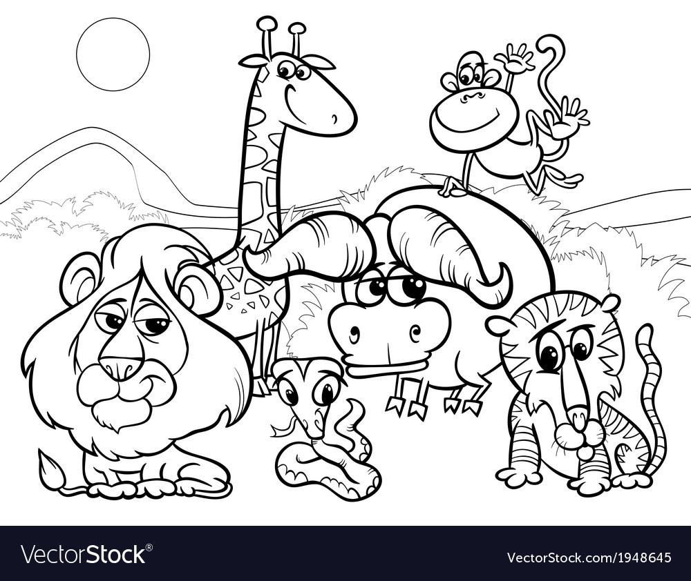 6400 Cartoon Coloring Pages Vector  Images