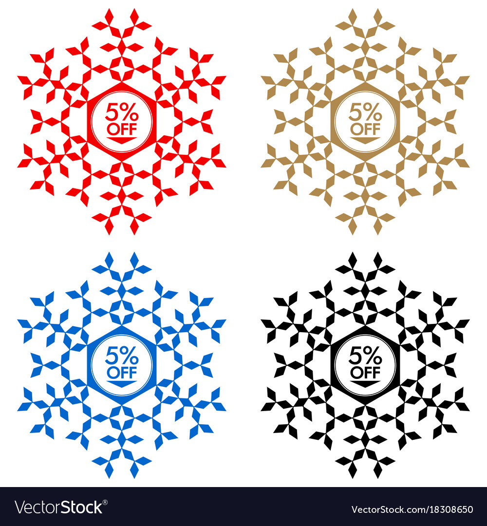 40 off discount sticker snowflake 40 off sale