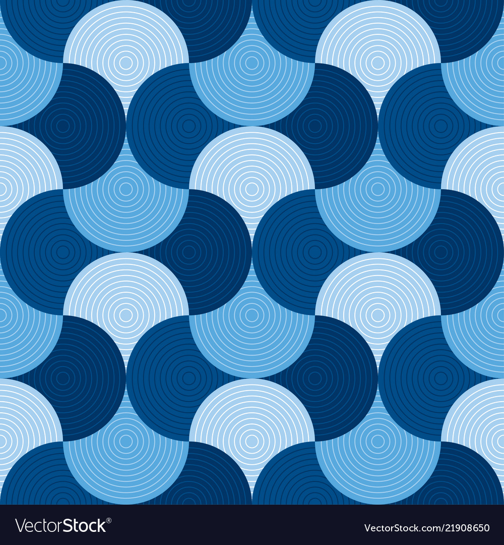 Blue geometric wallart seamless motif