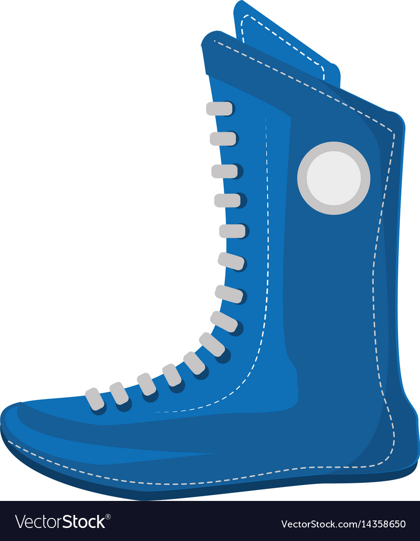 Boxing shoes equipment isolated icon vector image