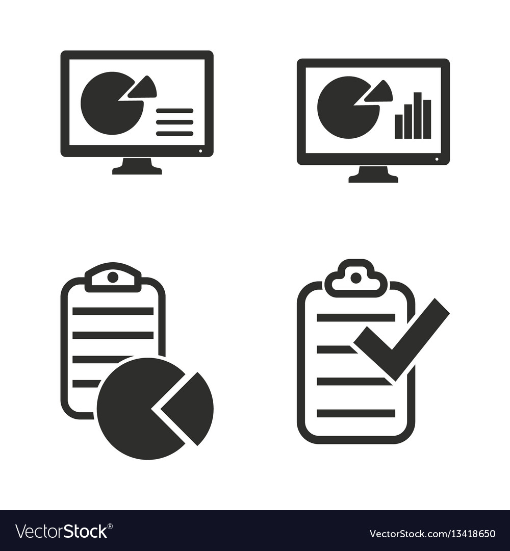 Business report icon set
