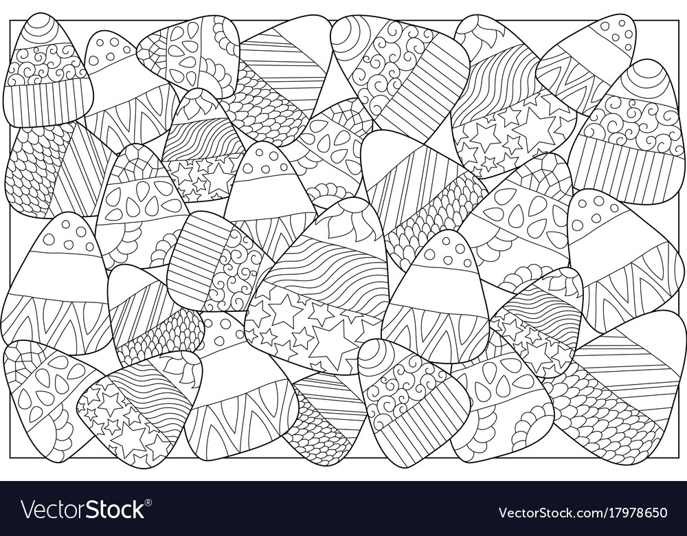 Candy Corn Coloring Page New Halloween Coloring Pages for Kids ... | 780x1000