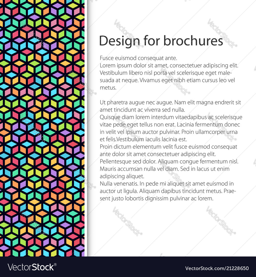 Cover design with seamless pattern