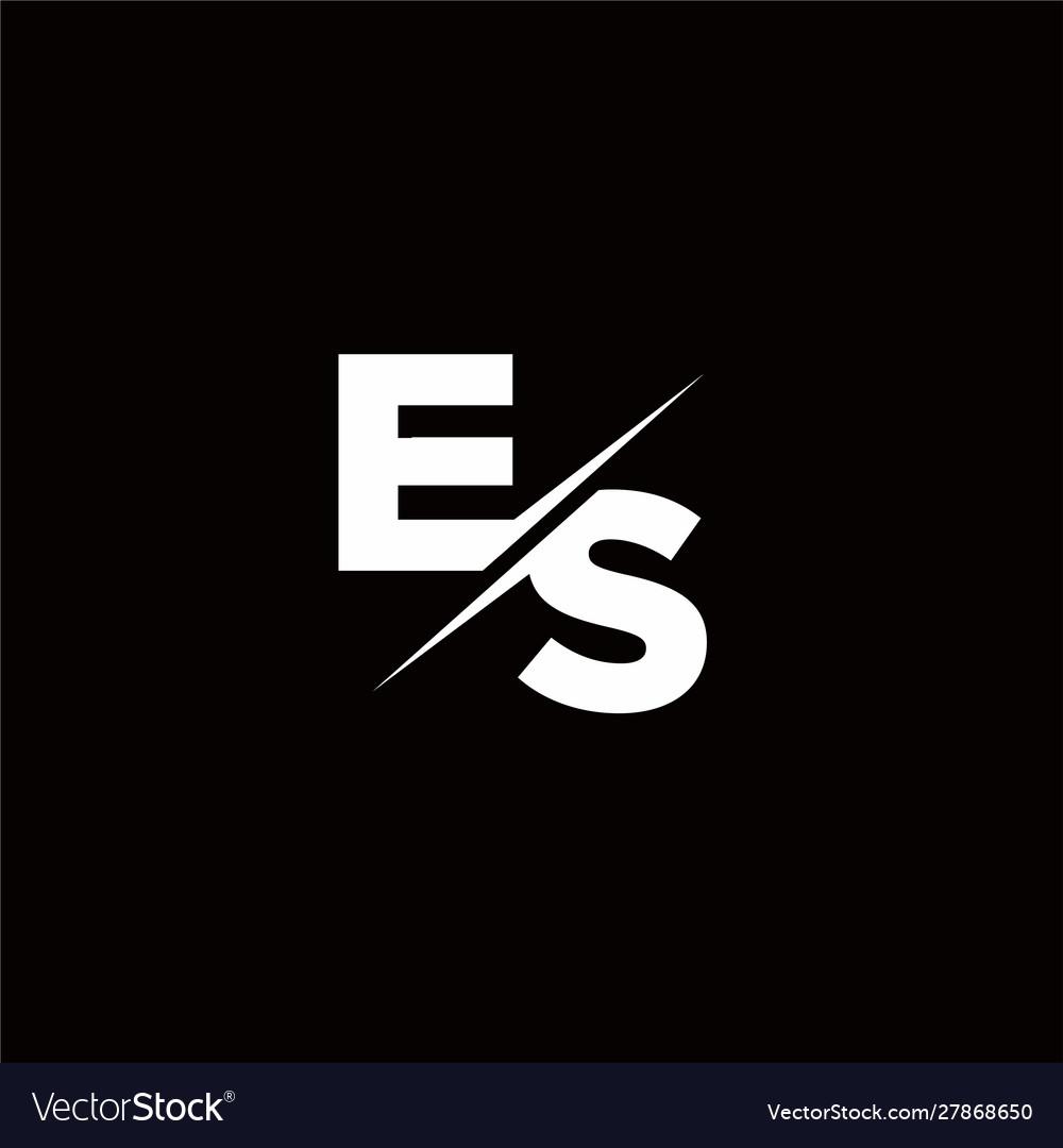 Es Logo Letter Monogram Slash With Modern Logo Vector Image